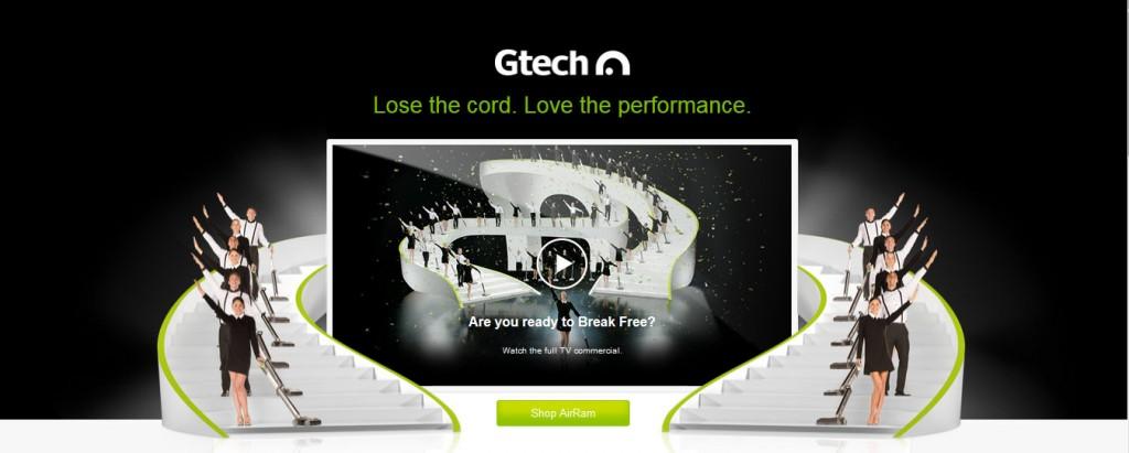gtech vacuum ad