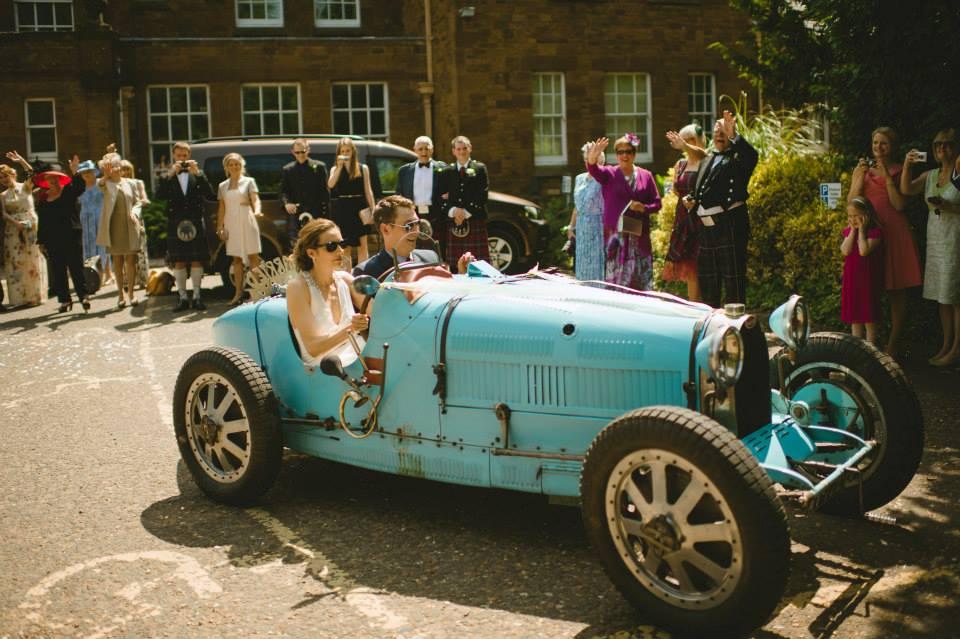 bride and groom driving bridal makeupbyjodie