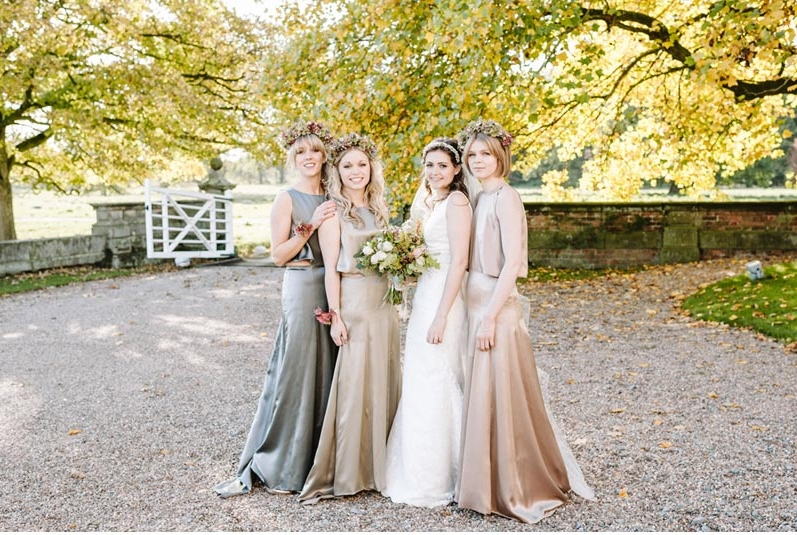 bride and bridesmaids bridal makeup artist