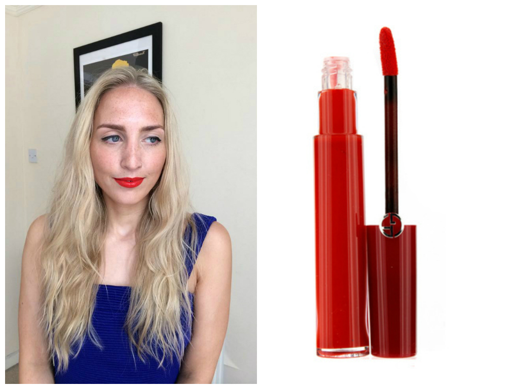 red lipstick for blondes with a warm skin tone