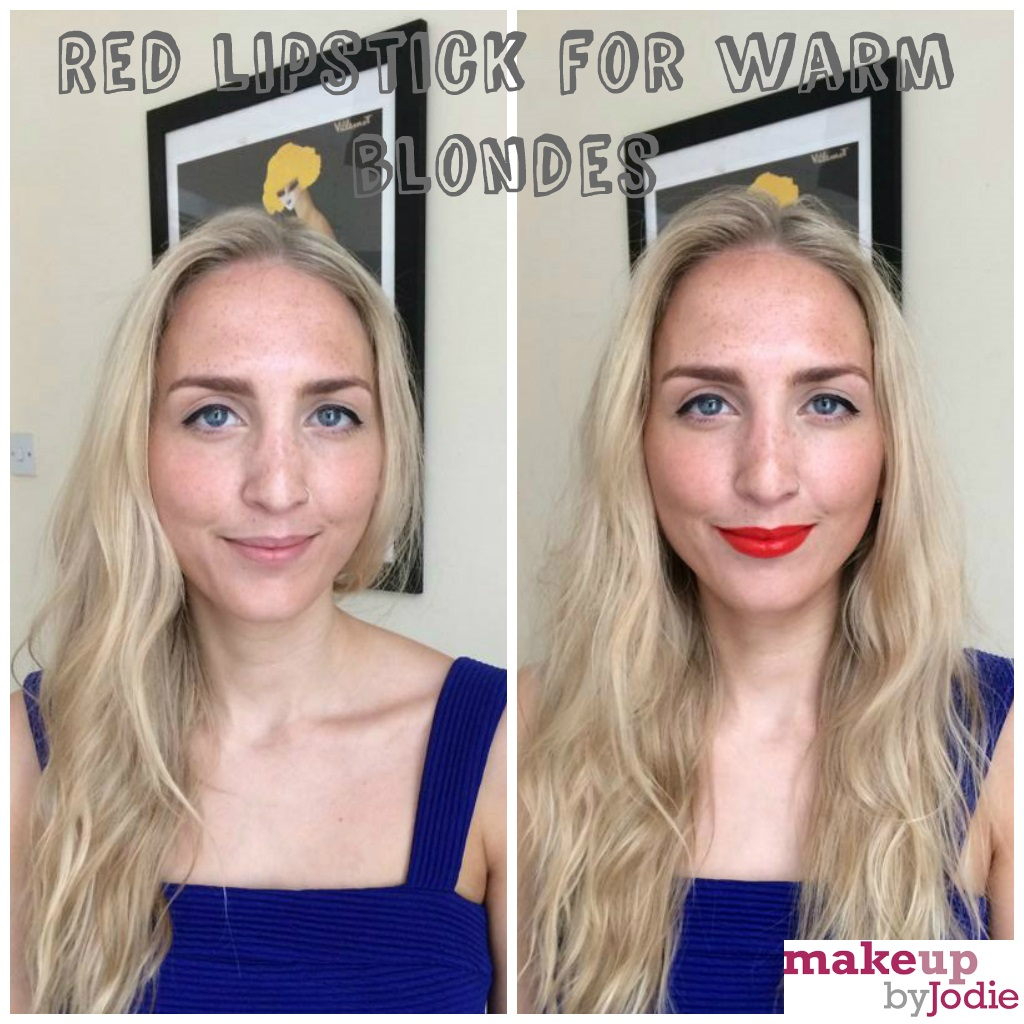 red lipstick for warm skinned blondes