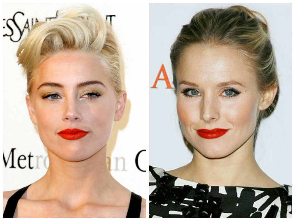 red lipstick on warm skin tone blonde celebs