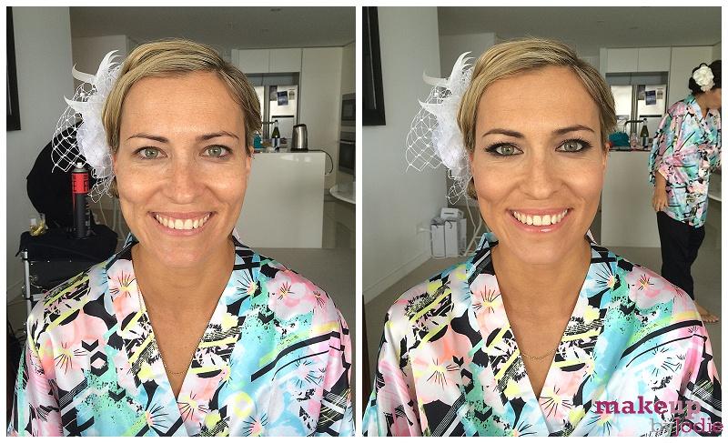 destination wedding makeup before and after
