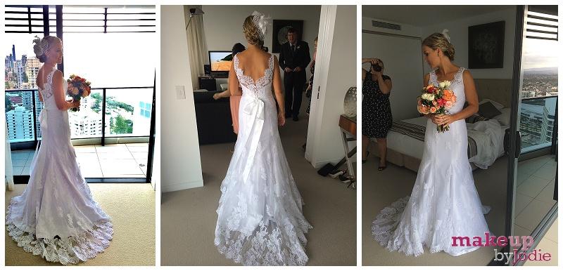destination wedding makeup brides dress