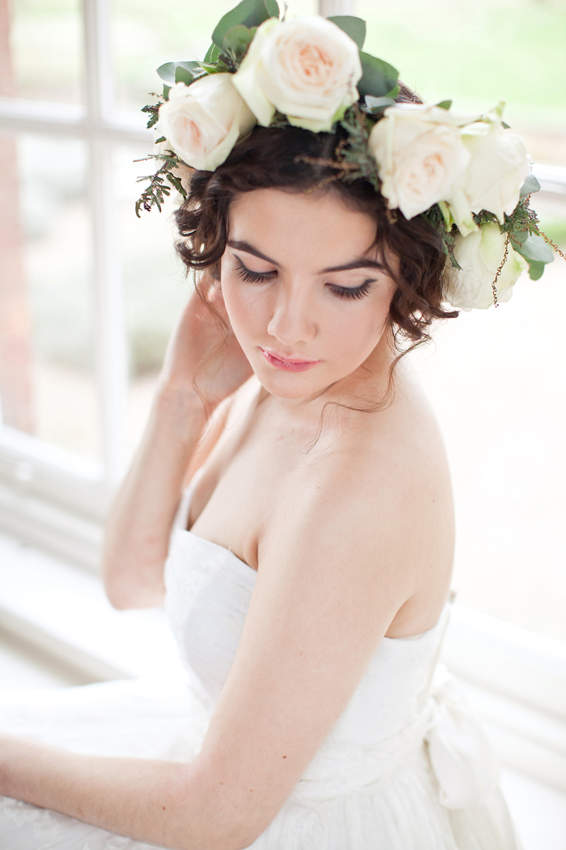 A Winter Romance shoot at Iscoyd Park - Makeup by Jodie