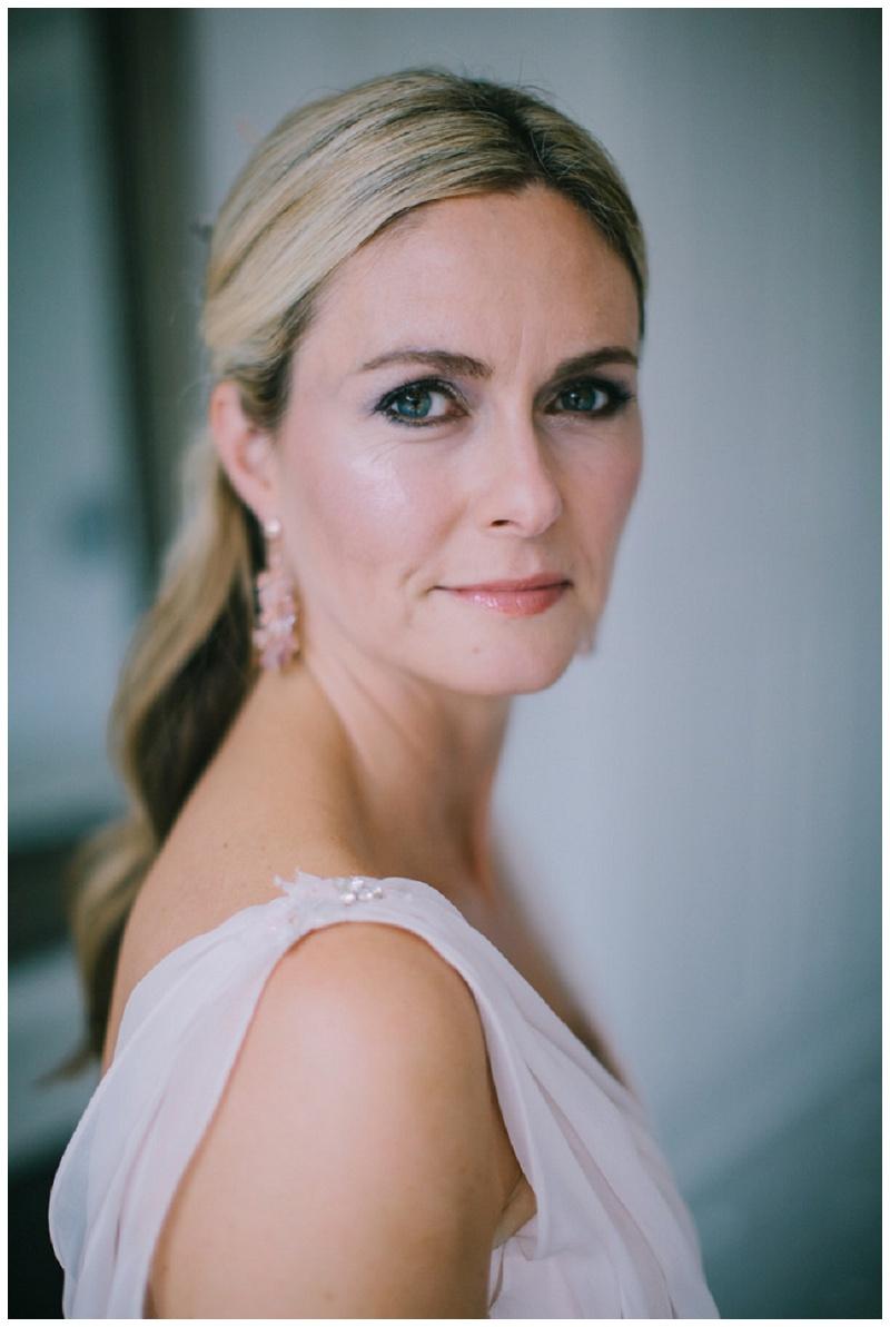 A Blush Pink Wedding Dress For Katie -wedding Makeup Artist Birmingham