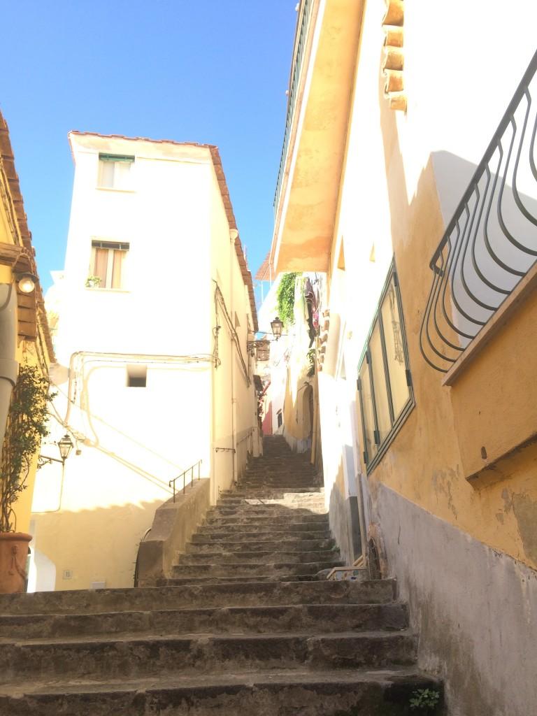 Morning walk in Positano