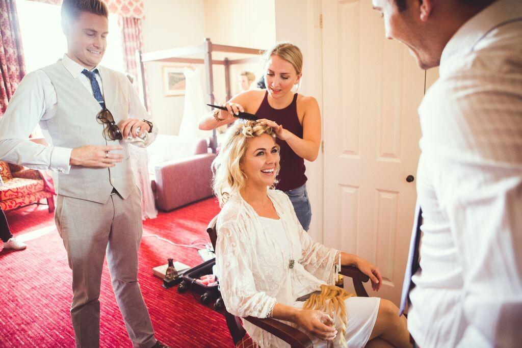 Wedding hair and makeup berkeley castle7