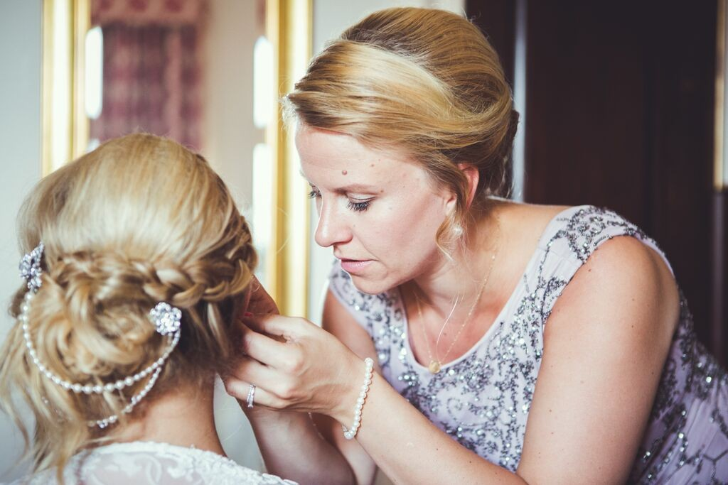 Wedding hair and makeup berkeley castle8