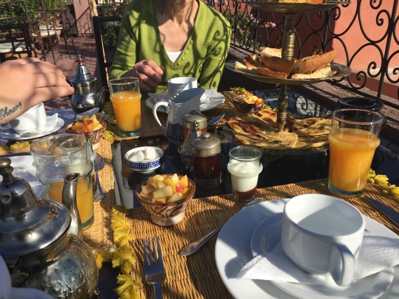 Riad Irhline breakfast