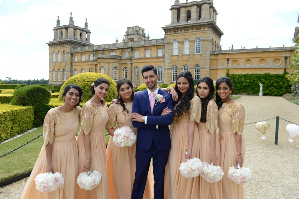 Blenheim Palace wedding bridesmaids