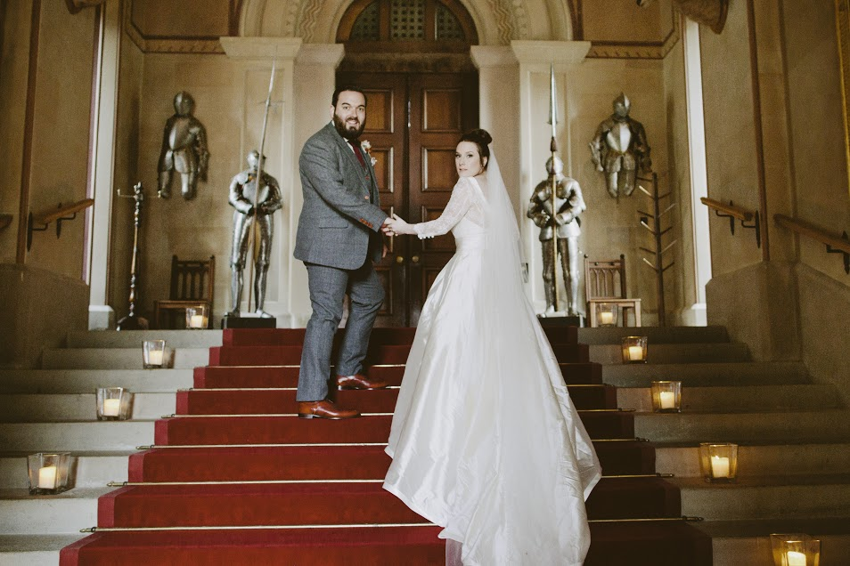 Eastnor Castle wedding hair and makeup10