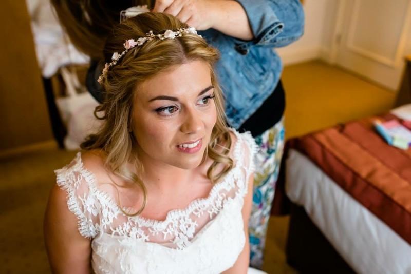 Shustoke barn wedding hair and makeup