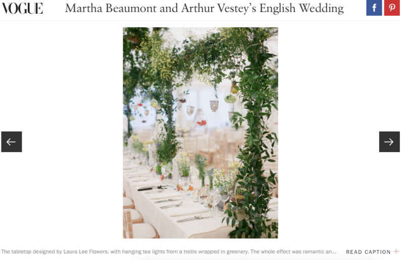 US Vogue wedding feature