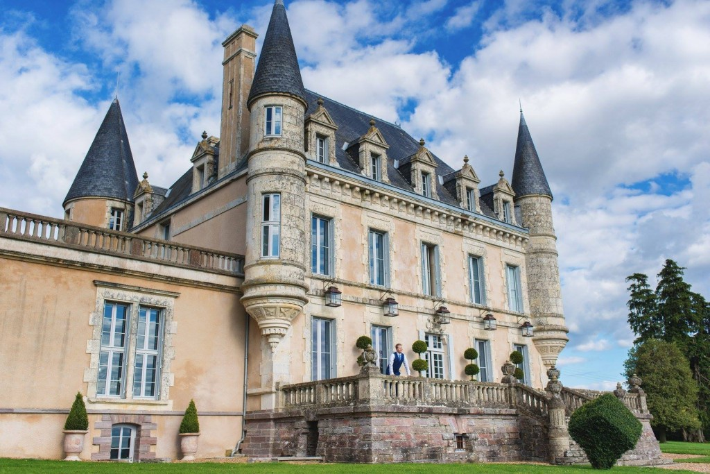 wedding hair and makeup Chateau De La Goujonnerie 9