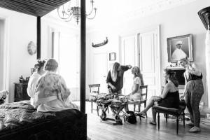 wedding hair and makeup la rochelle Chateau De La Goujonnerie 18