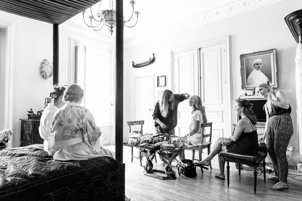 wedding hair and makeup la rochelle Chateau De La Goujonnerie 18