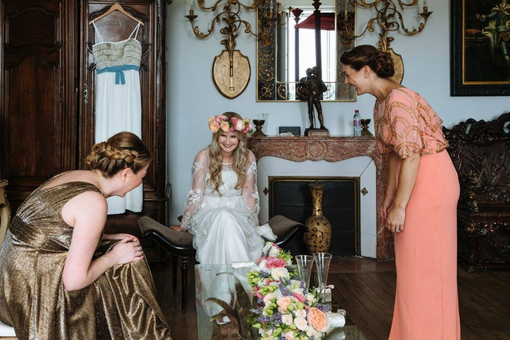 wedding hair and makeup la rochelle Chateau De La Goujonnerie 4
