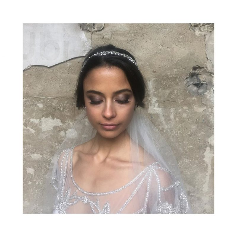 bridal makeup for a photoshoot