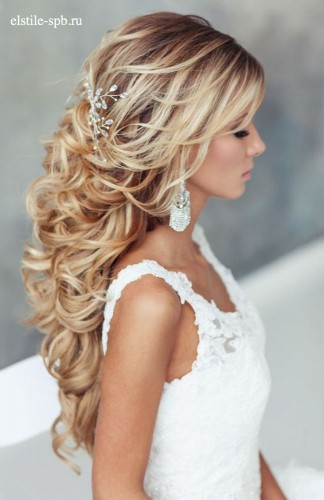 half up half down styles for brides