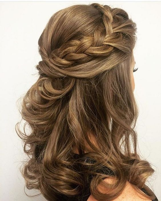 half up half down styles for brides
