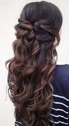 hair down for brides
