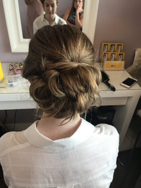 a female showcases her Hair and makeup by Milton Keynes artist