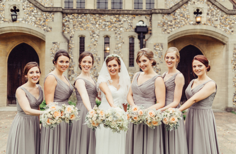 Guildford brides and bridesmaids.