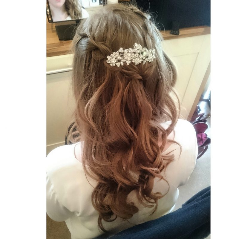Cheshire bridal hair.