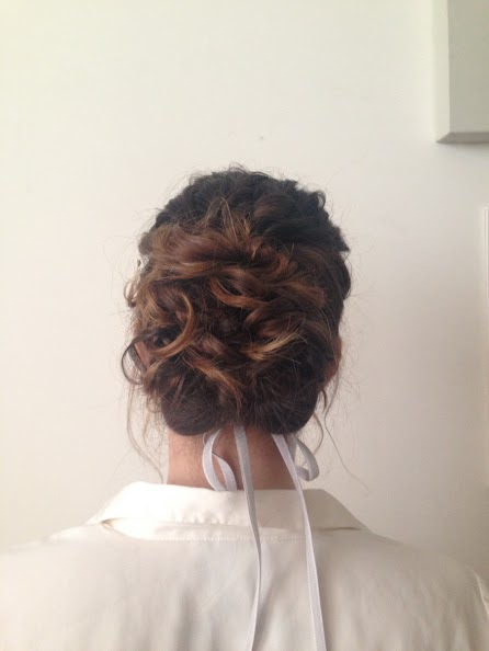 London bridal hair with tassles.
