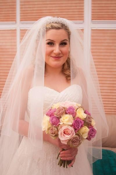 bride in cotswolds wedding makeup