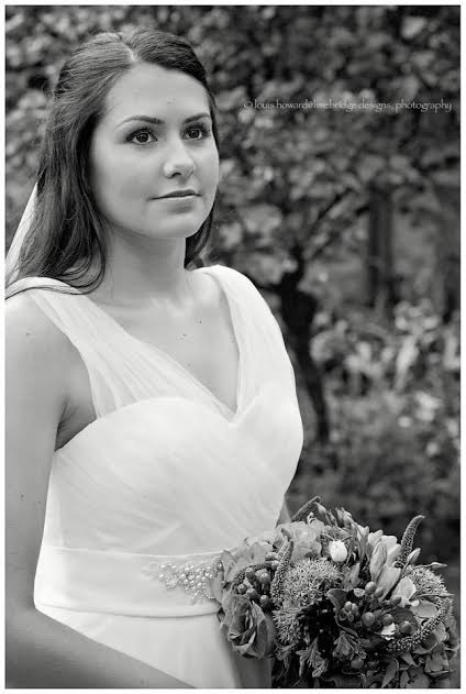 cotswolds bride in wedding dress
