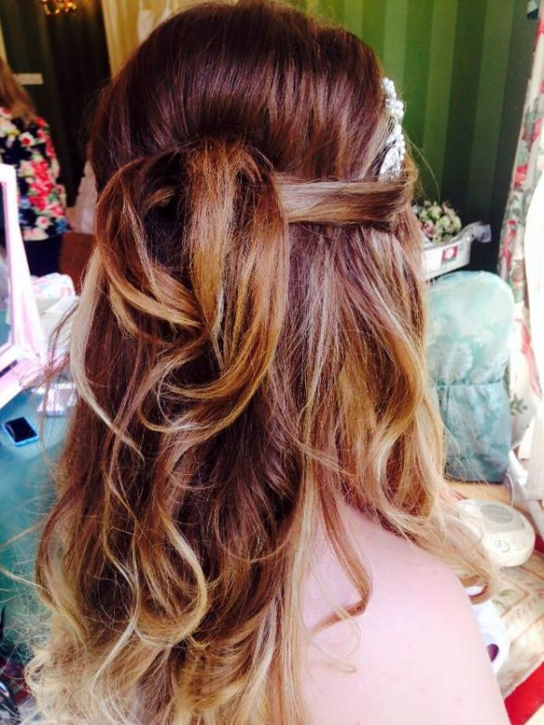Cheshire brides wedding hair.