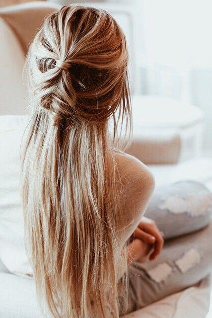 bridal inspiration of half up, half down hair styles