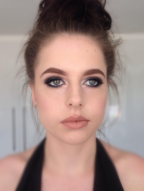 bride wearing a face of makeup