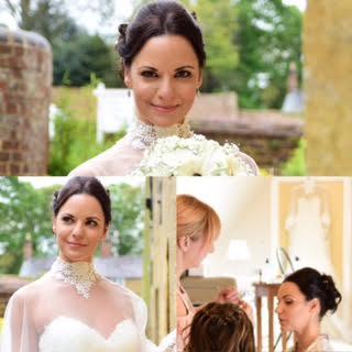 a bride wearing her bridal makeup
