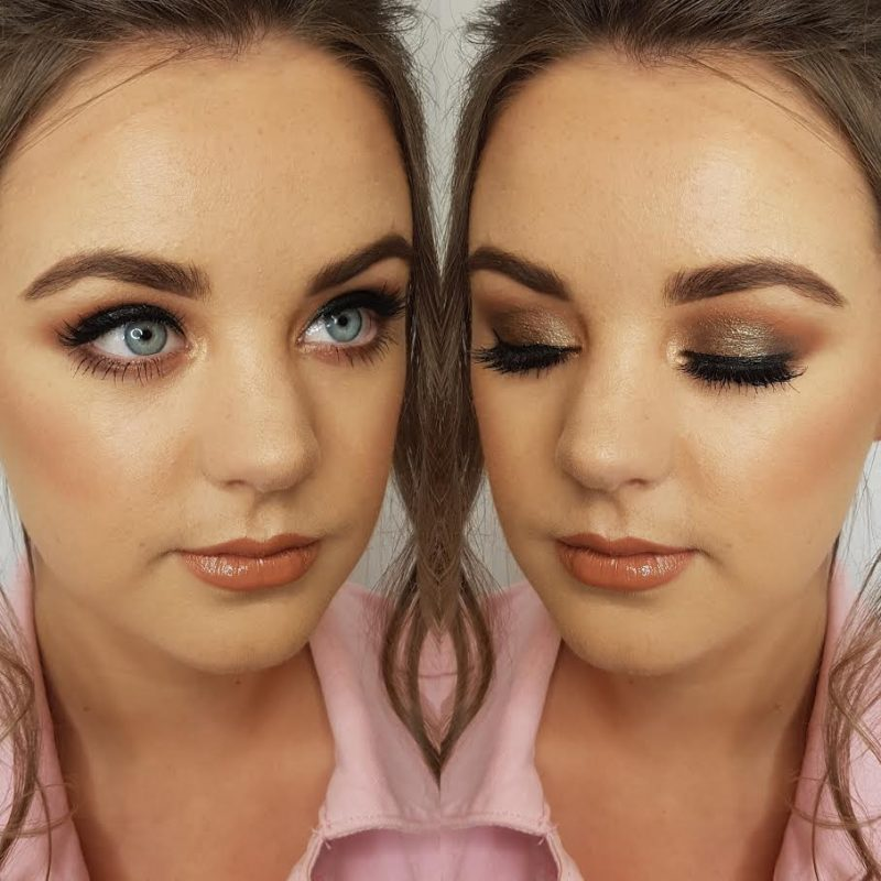 A lady wearing professional makeup in Cheshire