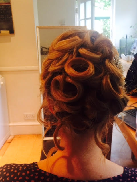 kent brides wedding hair.