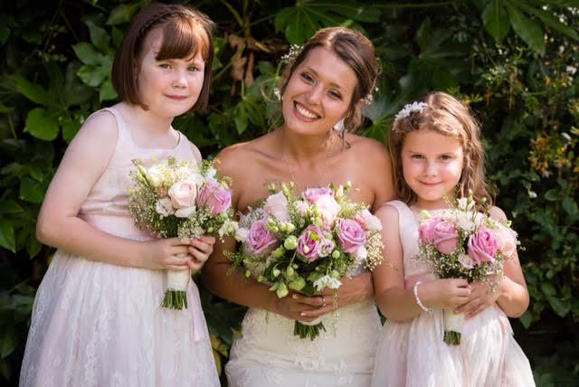 A bride wearing wedding makeup in Lancashire