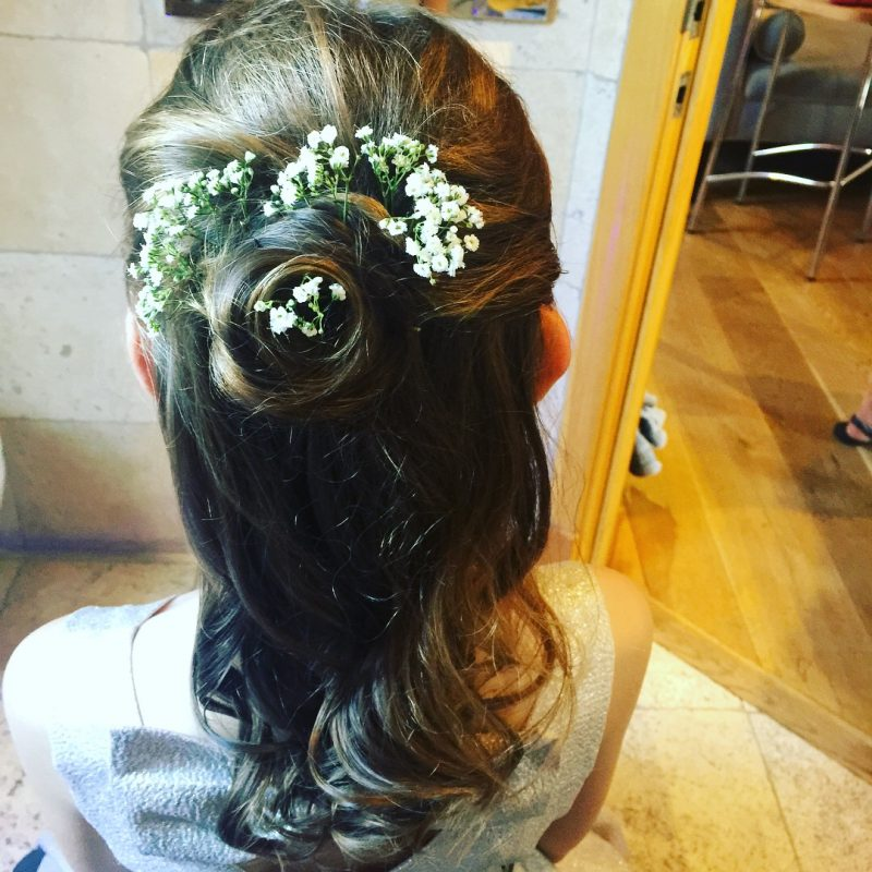 Bride showcases her wedding hair in Birmingham