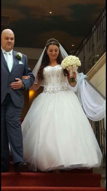 Bride showcases her wedding hair in Birmingham