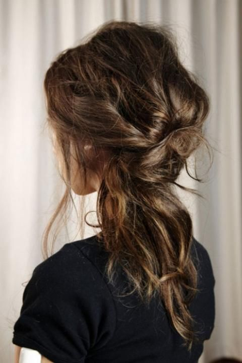 Undone cool hair for brides