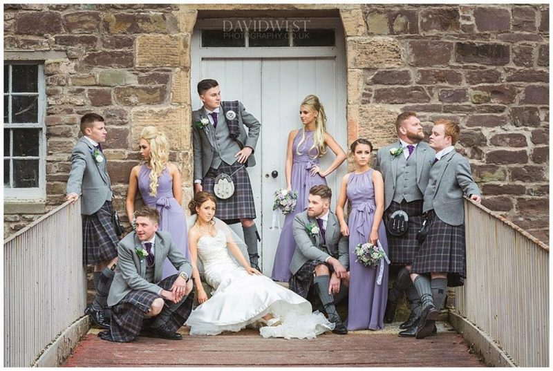 Scotland wedding hair
