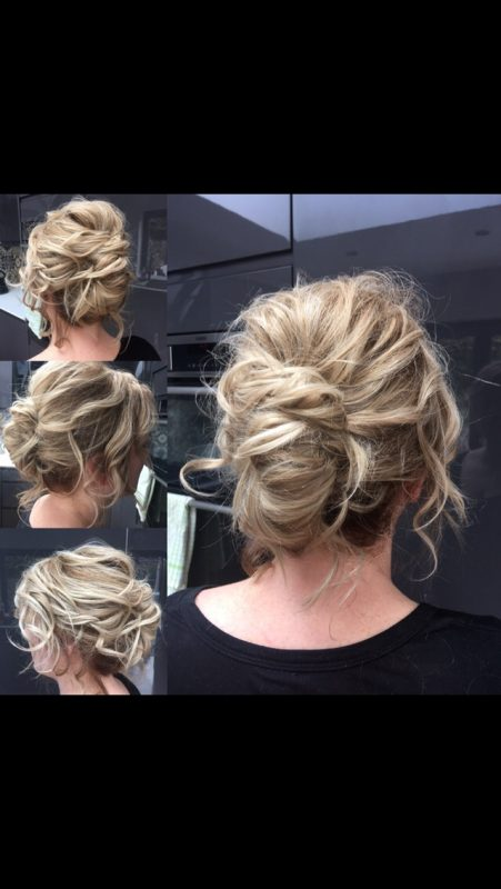 Mobile wedding hair Birmingham.