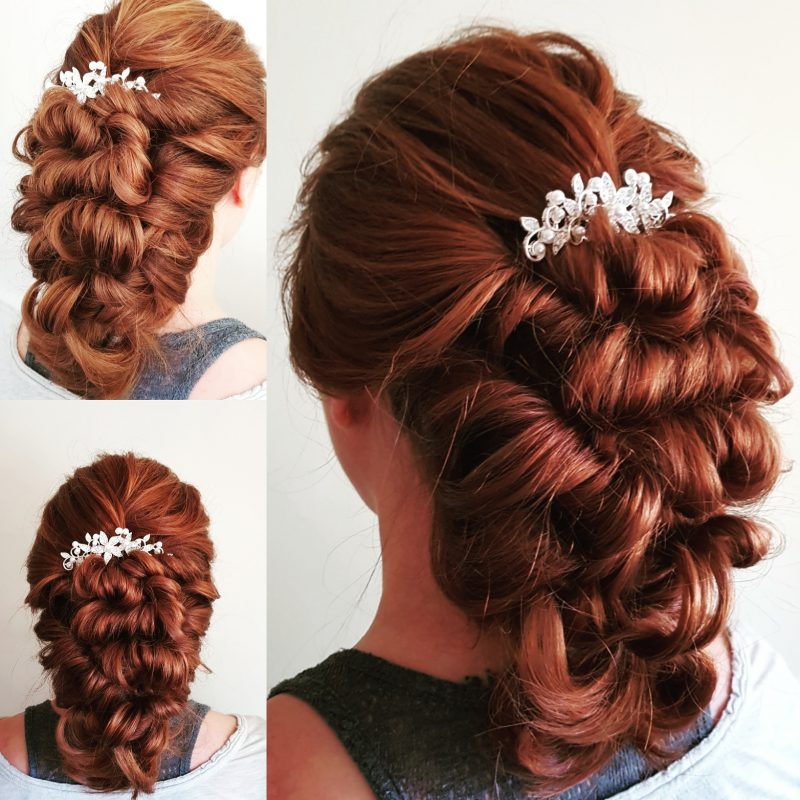 Herefordshire wedding hair